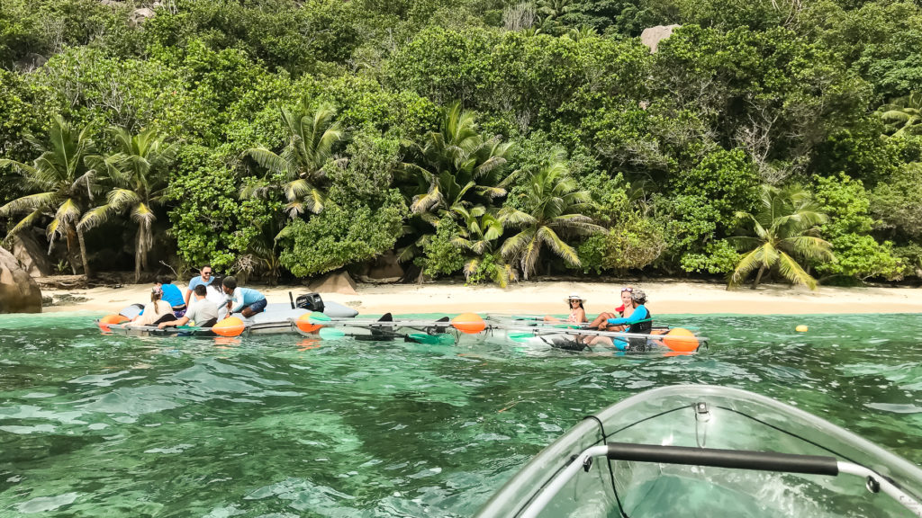 Seychellerna, La Digue, Paddla kayak, Crystal Water Kayaks